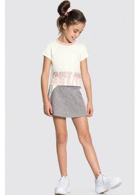 conjunto blusa e short saia infantil juvenil feminino fabulous offwhite alakazoo 34988 1