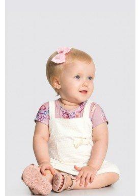 vestido body bebe feminino floral rosa alakazoo 34959 1