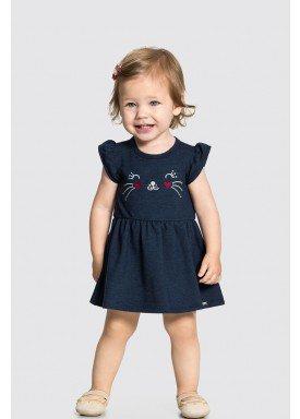 vestido body bebe feminino gatinha marinho alakazoo 34961 1
