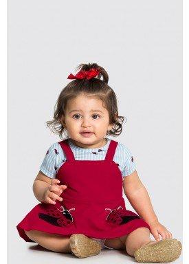 vestido body bebe feminino joaninha vermelho alakazoo 34960 1