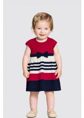 vestido malha nikko bebe feminino laco vermelho alakazoo 34958 1