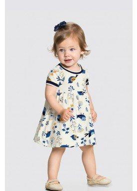 vestido malha nikko bebe feminino offwhite birds alakazoo 34955 1