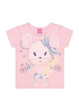 blusa meia malha infantil feminino interativa rosa kamylus 10346 2
