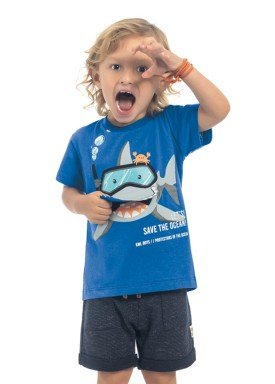 camiseta meia malha infantil masculina shark azul kamylus 12181 1