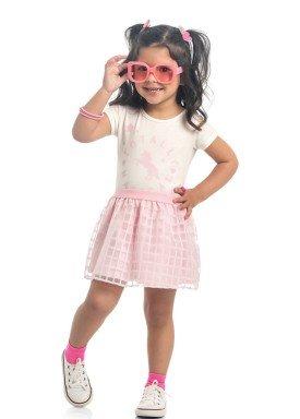 conjunto blusa e saia infantil feminino magical offwhite kamylus 10300 1