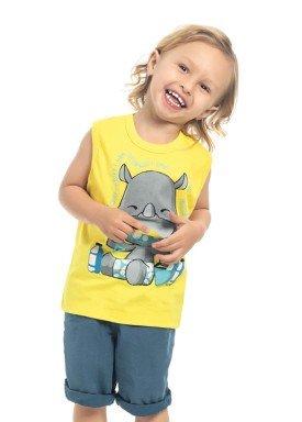 regata meia malha infantil masculina rinoceronte amarelo kamylus 12183 1