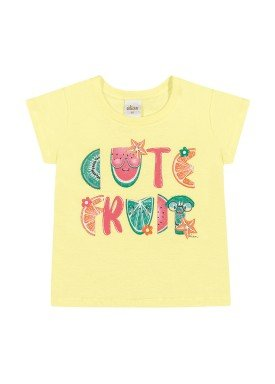 blusa meia malha infantil feminina frutas amarelo elian 231497