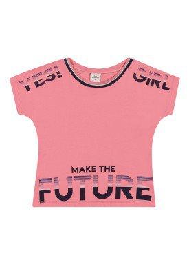 blusa meia malha infantil feminina future rosa elian 251452