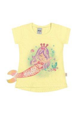 blusa meia malha infantil feminina sereia amarelo elian 231510 1