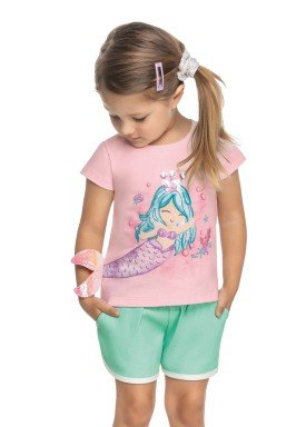 blusa meia malha infantil feminina sereia rosa elian 231510 1