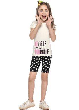 conjunto blusa e ciclista infantil juvenil feminino believe natural elian 251432 1