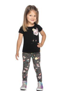 conjunto blusa e legging infantil feminino no bad days preto elian 231496 1