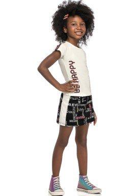 conjunto blusa e saia infantil feminino be happy natural elian 251446 1