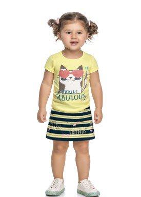 conjunto blusa e saia infantil feminino fabulous amarelo elian 231508 1