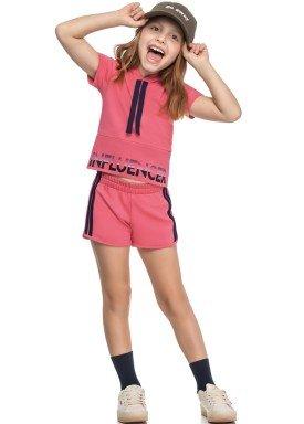 conjunto blusa e short infantil feminino influencer rosa elian 251450 1
