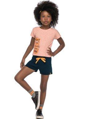 conjunto blusa e short infantil juvenil feminino dreams salmao elian 251436 1