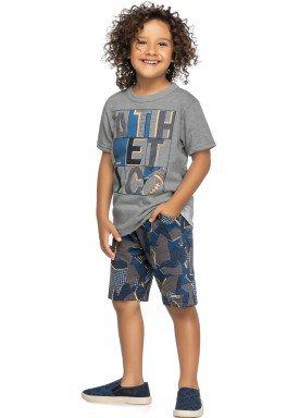 conjunto camiseta e bermuda infantil juvenil masculino athletic mescla elian 241021 1