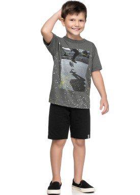 conjunto camiseta e bermuda infantil juvenil masculino skate mescla elian 241054 1
