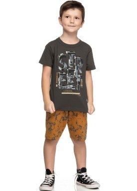 conjunto camiseta e bermuda infantil juvenil masculino street chumbo elian 241057 1