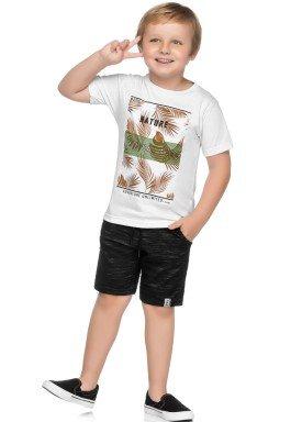 conjunto camiseta e bermuda infantil masculino nature branco elian 241019 1