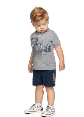 conjunto camiseta e bermuda infantil masculino urban paradise mescla elian 221131 1