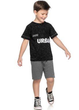 conjunto camiseta e bermuda juvenil masculino urban preto elian 241024 1