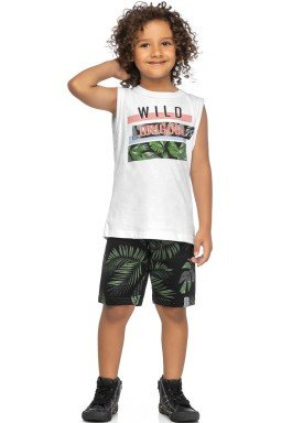 conjunto regata e bermuda infantil juvenil masculino wild branco elian 241018 1