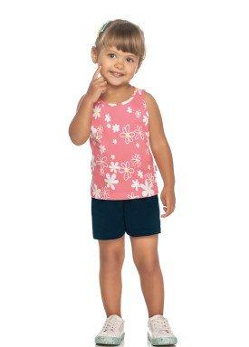 conjunto regata e short infantil feminino flores rosa elian 231437 1