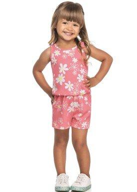 macaquinho meia malha infantil feminino floral rosa elian 231517 1