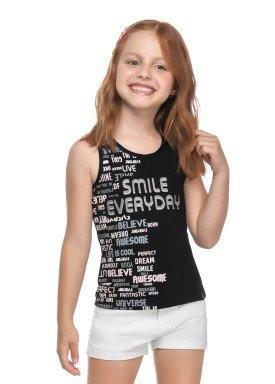 regata cotton infantil juvenil feminino smile preto elian 251445 1