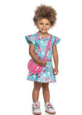 vestido e bolsa cotton infantil feminino sereias verde elian 231511 1