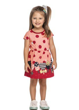 vestido meia malha infantil feminino picoles rosa elian 231436 1