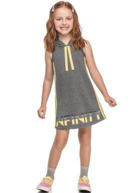 vestido moletinho infantil feminino infinity mescla elian 251448 1