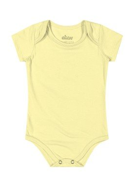 body cotton bebe unissex amarelo elian 50032