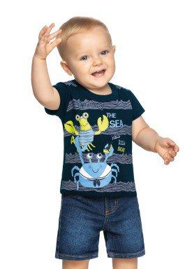 camiseta meia malha bebe masculina the sea marinho elian 20903 1