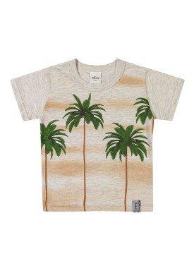 camiseta meia malha infantil masculina palmeiras mescla elian 221089