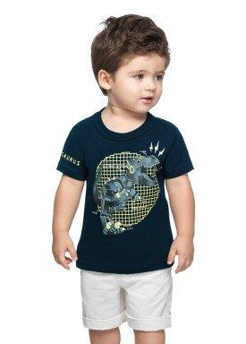 camiseta meia malha infantil masculina tyrannosaurus marinho elian 2211130 1