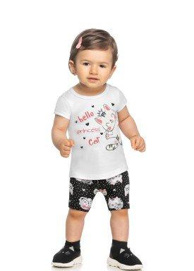 conjunto blusa e ciclista bebe feminino hello princess branco elian 211154 1