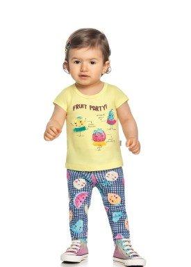 conjunto blusa e legging bebe feminino fruit party amarelo elian 211169 1