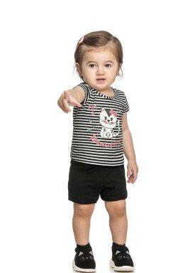 conjunto blusa e short bebe feminino beautiful preto elian 211153 1