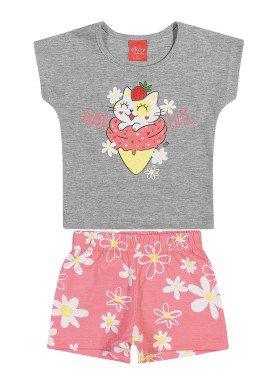 conjunto blusa e short bebe feminino super cute mescla elian 211112