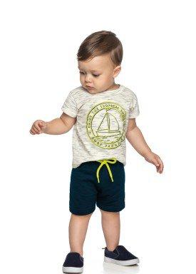 conjunto camiseta e bermuda bebe masculino summer natural elian 20910 1