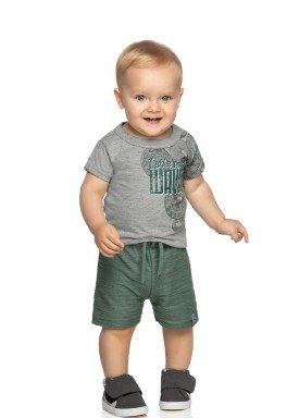 conjunto camiseta e bermuda bebe masculino waves mescla elian 20943 1