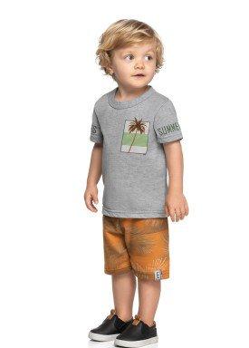conjunto camiseta e bermuda infantil masculina summer mescla elian 221094 1