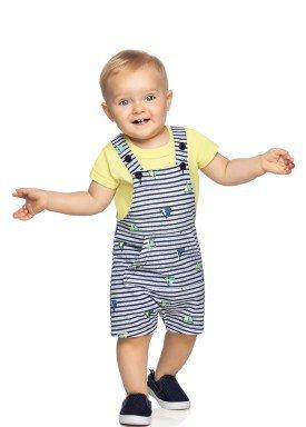 conjunto camiseta e macacao bebe masculino barcos amarelo elian 20911 1