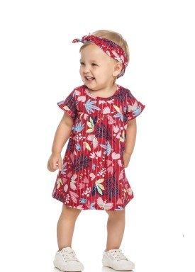 vestido com faixa cabelo bebe feminino natureza vermelho elian 211103 1