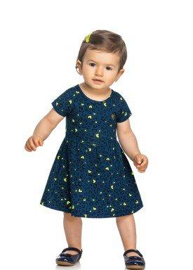 vestido cotton bebe feminino coracoes marinho elian 211158 1