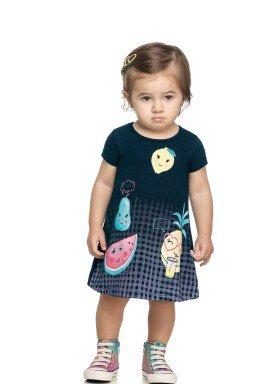 vestido cotton bebe feminino frutas marinho elian 211166 1