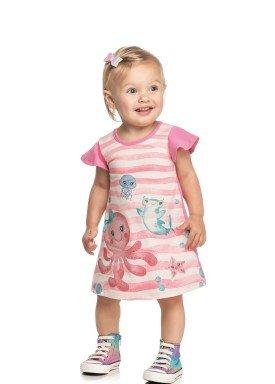 vestido cotton bebe feminino fundo mar rosa elian 211163 1