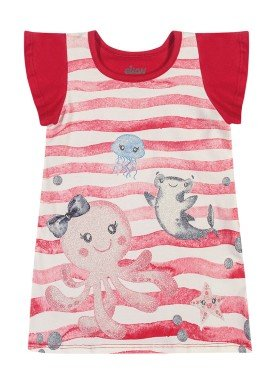 vestido cotton bebe feminino fundo mar vermelho elian 211163